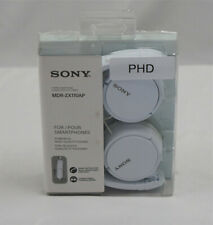 Sony MDRZX110AP ZX Series Extra Bass Smartphone Headset with Mic (White)