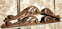 4 Small scroll leaves wood carving pediment Antique french architectural salvage