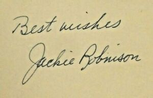 Jackie Robinson Baseball HOF Signed Hardcover Book Beautiful Autograph
