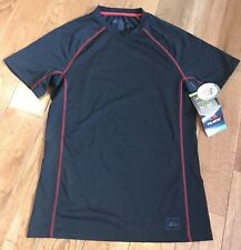 NWT Mens REI Lightweight Polar Dry Polartec Baselayer Shirt UPF 20 Black Red M