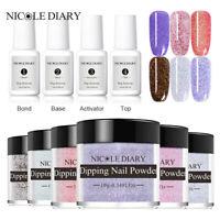 10Bottles NICOLE DIARY 10ml Dipping Powder Nail Dip Liquid Nail Art Starter Kit