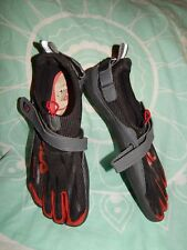 Fila ~ Men's 11 ~ Red & Black ~ Skele-Tons Water Shoes~ Individual Toes