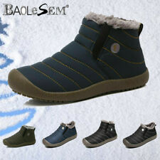 Men's Winter Outdoor Waterproof Warm Snow Boots Ski Fur Lined Ankle Boot Shoes