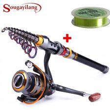 Sougayilang 1.8-3.6m Telescopic Fishing Rod and 11BB Fishing Reel Wheel Portable