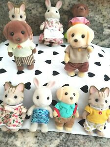 9 Calico Critters Sylvanian Family Animal Figures  Mixed Lot.