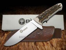 Boker Arbolito Fixed Blade Hunter Knife Genuine Deer Stag 02BA545HH