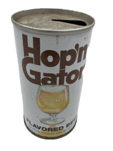 Vintage Hop'n Gator Beer Can Pull Tab Opened Breweriana SHIPS FREE USA