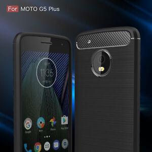 Shockproof Armor Carbon Fiber Hybrid Brush Case Cover For Motorola Moto G5 Plus