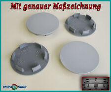 4x Flat Hub Caps Wheel Hubs 2 5/16in hubcap WHEELCAP in Grey NEW