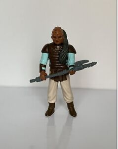 Vintage Star Wars Weequay Figure + Original Skiff Vibro Axe 1983 No COO