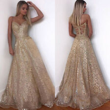 Women Bandage Backless Evening Maxi Dresses Formal Prom Wedding Party Ball Gowns