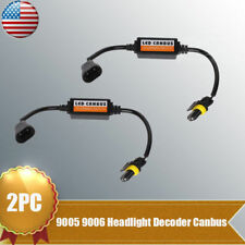 2pcs 9005 9006 LED Headlight Canbus Decoder Anti-Flicker Error Canceller Kit