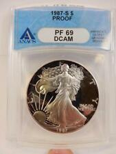 1987-S Proof American Silver Eagle, ANACS PF 69 DCAM, S$1,  #B68