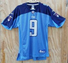 90s REEBOK Tennessee Titans STEVE McNAIR Youth XL Patch JERSEY #9 NFL Equipment