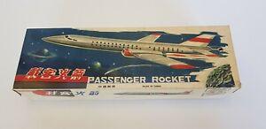 Vintage Space Passenger Rocket Friction Airplane Tin Toy MF 093 China