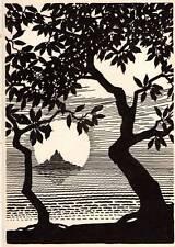 "Original Don Blanding Art Deco Vintage Print 1953 ""Nature is God's Metaphor"""