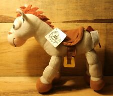 """Disney Parks Toy Story Bullseye Plush Bendable Posable 10"""" Horse New With Tags"""