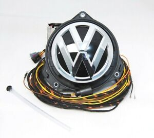 NEW OEM VW PASSAT SPORTSVAN HIGHLINE REAR VIEW CAMERA RVC LOGO EMBLEM BADGE