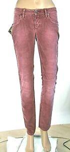 Jeans Donna Pantaloni HEAVY ROUGH Italy C741 Viola Vinaccia Affusolato Tg 26