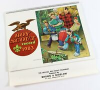 Vtg Family Camping 1983 Official Brown Bigelow Calendar Boy Scout of America BSA