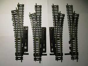 Lot of 4 HO Scale Atlas N/S 2 Left & 2 Right Hand Turnouts #4 Used