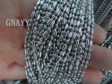 GNAYY 5meter stainless steel Thin 2mm Beads bamboo chain Jewelry Finding Marking