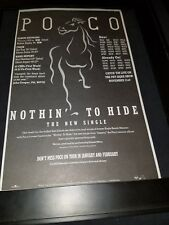 Poco Nothin' To Hide Rare Original Radio Promo Poster Ad Framed! #2