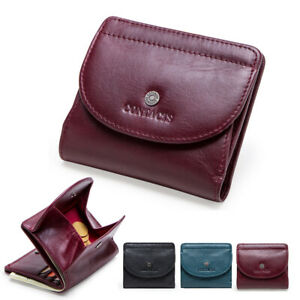 Small Women Ladies Genuine Leather Wallet Credit Card Holder Coin Purse Bag Gift