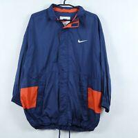 NIKE Vintage Mens Blue Full Zip Lined Windbreaker Jacket SIZE Medium, UK39/41
