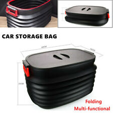 40L Universal Car ABS Backup Storage Box Retractable Storage Bag Black Cover