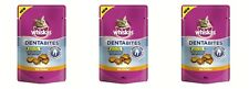 3x Whiskas - Dentabites with Chicken - Cat Treats (3 x 50g Packs)