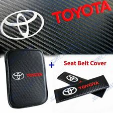 New Embroidery For TOYOTA Car Center Armrest Cushion Mat Pad Cover Combo Set