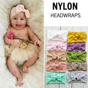 Baby Nylon Headbands Hairbands Hair Bow Elastics for Baby Girls New-born Infant
