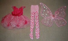Girls Gymboree Fairy Butterfly Halloween Costume Wings Tights Small 5 6 7