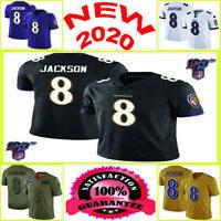 Baltimore Ravens Men's Lamar Jackson 8 Stitched Multi Colors Jersey Size S-3XL