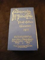 Catalogue Timbres Poste Yvert & Tellier Champion 1927