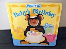 Picture Me Baby's Birthday Book Brag Keepsake board book insert childs photo