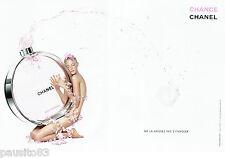 PUBLICITE ADVERTISING 026  2010  Chanel  parfum Chance  ( 2p)