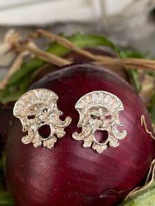 orecchini ROMEO in argento 925 Magna Grecia con maschera apotropaica