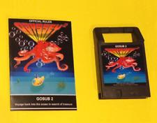 GOSUB 2 Odyssey2 homebrew videogame cartridge Videopac Magnavox manual sequel
