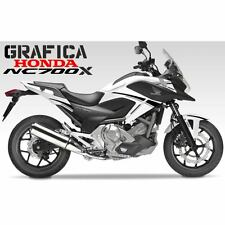 ADESIVI DECAL STICKERS HONDA NC700X NC 700 X RACING CARENA GRAFICA NERO ARGENTO