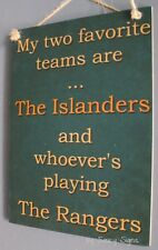 New York Islanders Versus The New York Rangers Hockey Sign - Team Rivalry Rare
