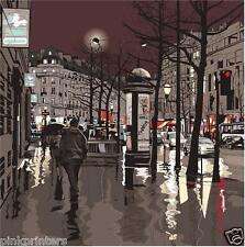 Paris in the Rain - City at Night Series - Canvas Print - New