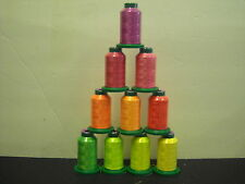Isacord polyester embroidery thread  10 - 1000 m Neon colors