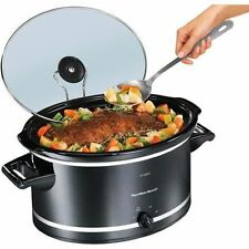 Hamilton Beach 8 Quart Qt Large Slow Cooker Crock Pot Crockpot Oval Manual