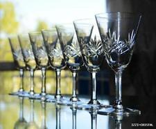 ANTICHE 7 bicchieri da vino cristallo inciso da LORRAINE FRANCIA?
