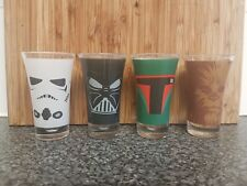 OFFICIAL DISNEY STAR WARS QUOTES SET OF 4 PARTY SHOT GLASSES NEW & GIFT BOXED