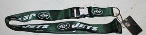 New York Jets Green Breakaway Lanyard with Detachable Keychain Hook NFL Football