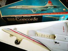 British airways Concorde battery operated tin toy toung Young taiwain