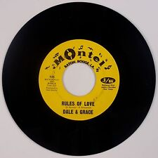 DALE & GRACE: Rules of Love / Cool Water MONTEL NM- 45 USA Orig